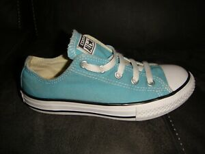 CONVERSE ALL STAR OX CANVAS PUMPS TRAINERS - GREEN - SIZE 1 UK / 33 EU KIDS -N27