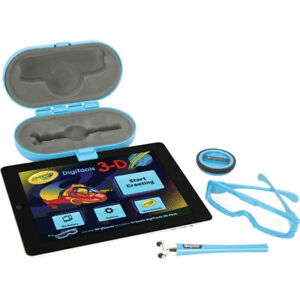 Crayola DigiTools Digital 3D Effects Designs Pack for iPad With 3D Glasses & App