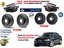 für Audi A3 Limousine 2013- Vordere Hintere Performance Set Bremsscheiben+