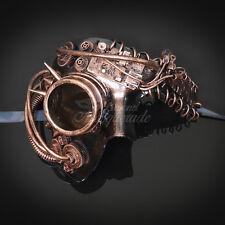 Steampunk Phantom Theater Masquerade Mask for Men - Metallic Copper (M39146)