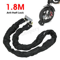 1.8M Anti Theft Chain Lock Padlock Security Metal For Motorcycle Bicycle Scooter