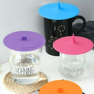 Pack Of 3* Silicone Cup Lid Glass Drink Cover Anti-dust Coffee Mug Suction Seal