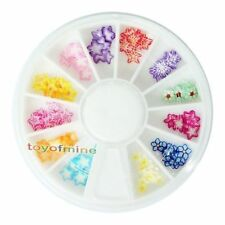 New 120 PCS 3D Star Fimo Nail Art Tips UV Acrylic Decoration Wheel