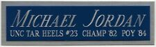 MICHAEL JORDAN UNC NAMEPLATE FO AUTOGRAPHED Signed JERSEY-BASKETBALL-PHOTO-FLOOR