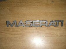 Emblem / Badge Maserati Biturbo aus Metall, ca. 265 x 30 mm