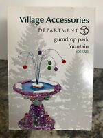 Dept 56 Village Gumdrop Park Fountain #4054223 Sweet Candy Village