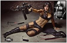 "HOT KRISS VECTOR TACTICAL GIRL Signed 8.52"" X 5.47"" Mini-Poster"
