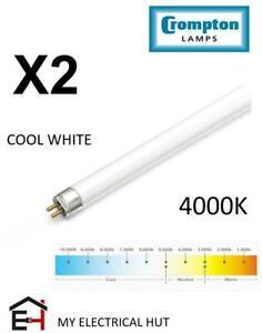"2X T5 FLUORESCENT TUBE 8W Cool White 4000K Miniature 12"" CROMPTON"