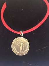 """Denarius Of Otho Roman Coin WC20  Made From  Pewter On 18"""" Red Cord Necklace"""