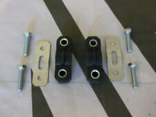 MGTF MG TF Pair Exhaust Hanger Rubbers Stainless Hanger Plates & Bolts Stainless