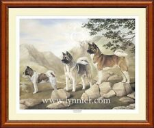 AKITA Limited edition dog print 'Fearless Spirits' by Lynn Paterson