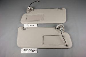 2009-14 Dodge Ram 1500 2500 3500 Sun Visor Set Pair Lighted Mirrors Adjust Bars