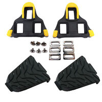 mr-ride Shimano SPD-SL SM-SH11 Road Bike Cleats + SM-SH45 Cleat Covers Combo Set