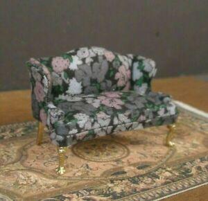 "HALF  SCALE ~ 1/2""  scale ~ SOFA ~ 1/24 ~ Dollhouse Mini ~ Artisan ~ Room Box"