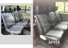 VW TRANSPORTER T4 CARAVELLE SECOND ROW VAN SEAT COVERS GREY QUILTED 120GYBK