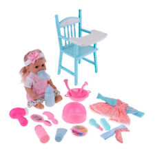 Baby Girl Doll & Dining Chair and Makeup Accessories - 15Pcs Kids Playset