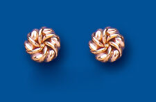 Knot Earrings Knot Studs Rose Gold Knot Stud Earrings    8mm