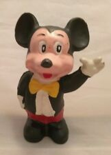Vintage Cast Iron Mickey Mouse Bank. With Bowtie and waving.