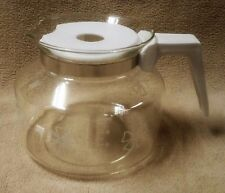 MR. MR COFFEE Vintage 12 Cup Replacement Glass CARAFE Decanter Pot WHITE Mint