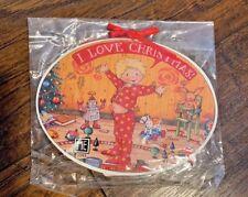 Mary Engelbreit I Love Christmas Ornament Oval Boy Pajamas Toys New
