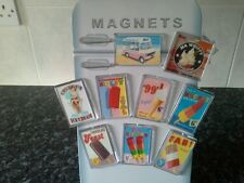 Ice Cream and Lolly Fridge Magnet Set. NEW. Retro Signs. British Seaside