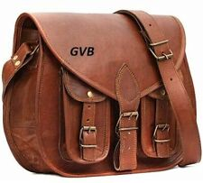 Women Real Leather Vintage Rustic saddle Leather Messenger Cross Body Bag Purse