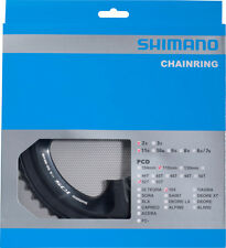 Shimano FC-5800 Sprocket 105 2x11 Teeth 34 36 39 50 52 53, Black/Silver