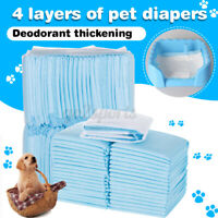 100 PCS Pet Diaper Disposable Puppy Training Nappy Sanitary Pants Underpant Dog