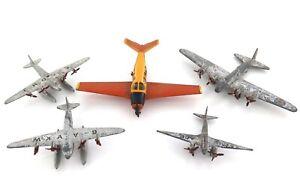 VINTAGE DINKY MECCANO AEROPLANES 710, SEAPLANES, LIGHT RACER, LONG RANGE BOMBER
