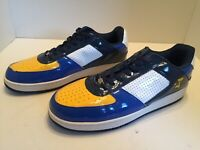 Starbury By Stephon Marbury Mens Blue Yellow White Basketball Sneakers Size 15