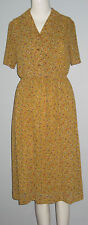 HANASAKI Size 7 Yellow Short Sleeves Dress (Made in Japan)