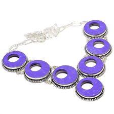 "Designer Rings Charoite Handmade Ethnic Style Jewelry Necklace 18"" N-625"