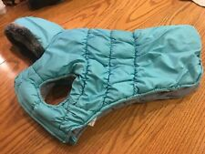 New listing Cynthia Rawlings Beautiful Turquoise Pet Coat Or Jacket For A Dog Fur Lined Hood