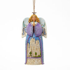 Jim Shore Christmas Angel w/Cathedral Scene Hanging Ornament ~ 4042973