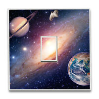Space Galaxy Universe Single Light Switch Sticker Vinyl Cover Skin Wall Decal