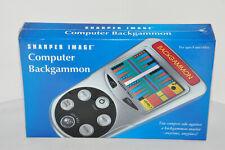 Sharper Image Computer Backgammon Electronic Portable Pocketsize NEW & SEALED