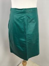 Vintage Yucatan Bay Blue Leather High Waisted Skirt Pencil Skirt Casual SZ 10