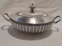 1869 Rogers & Smith New Haven Conn Silver Plate Decorated Dish Bowl Server