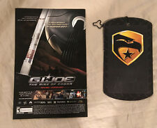 G.I JOE SDCC HASBRO THE RISE OF COBRA DOG TAG & COMIC EXCLUSIVE 2009/2016