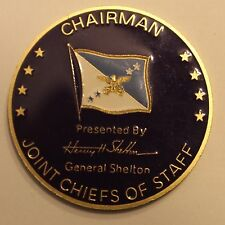 Gen Henry Hugh Shelton Chairman Joint Chiefs Staff CJCS Army Challenge Coin  V1