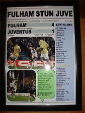 Fulham 4 Juventus 1 - 2010 Europa League - framed print