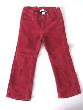 pantalon slim H&M 4 ans en velours rose fuchsia taille ajustable