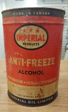 ANTIQUE IMPERIAL OIL LTD. ONE GALLON ANTI-FREEZE CAN