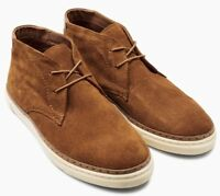 NEXT Men's Tan Genuine Suede Leather Mid Boots - size UK 10 / EU 44