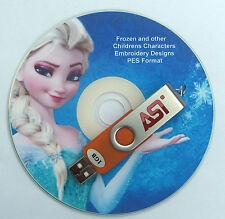 PES embroidery Designs congelati Disney & 4800 Childrens caratteri su CHIAVETTA USB