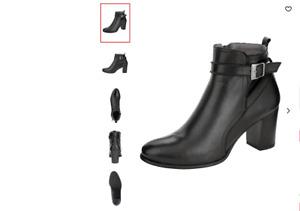 Folie`s Damen Stiefelette aus weichem Nappaleder Schwarz Stiefel Boots GR. 36