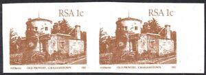South Africa 1982-7 1c reddish brown, IMPERFORATE PAIR, SG.511ab, UM