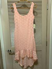 FOREVER 21 BOUTIQUE Dress Peach Lace Spring Ruffles Flower Size Medium NEW w/tag
