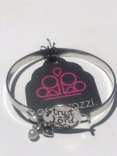 Paparazzi Silver Hinged Bangle Bracelet Total Trust White Pearl NEW 🔥🔥