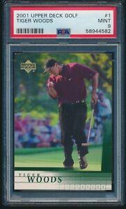 2001 Upper Deck Golf Tiger Woods Rookie RC #1 PSA 9 MINT